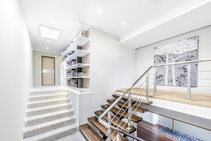 Hong Kong YL Residence 現代風玄關、走廊與階梯 根據 Office for Fine Architecture 現代風