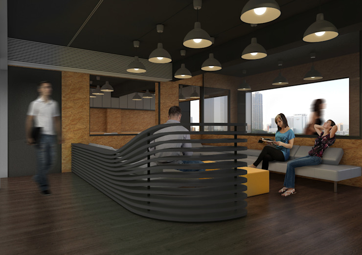 Hong Kong Centralpark Coworking Space 根據 Office for Fine Architecture 現代風