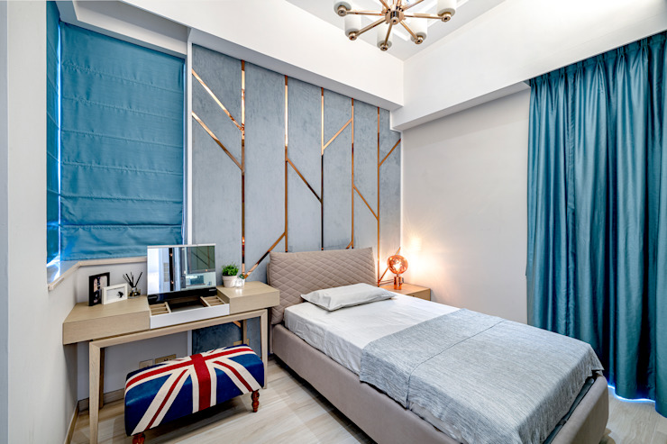 House in Tai Wai Colonial style bedroom by ED Design Limited Colonial