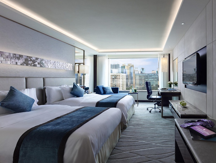Guestroom Modern hotels by John Chan Design Ltd Modern