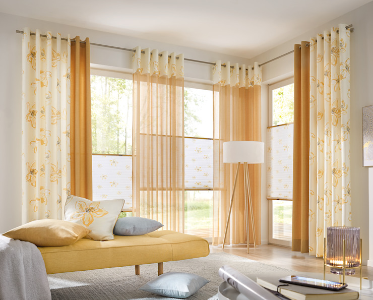 UNLAND International GmbH Windows & doors Curtains & drapes Textile Yellow