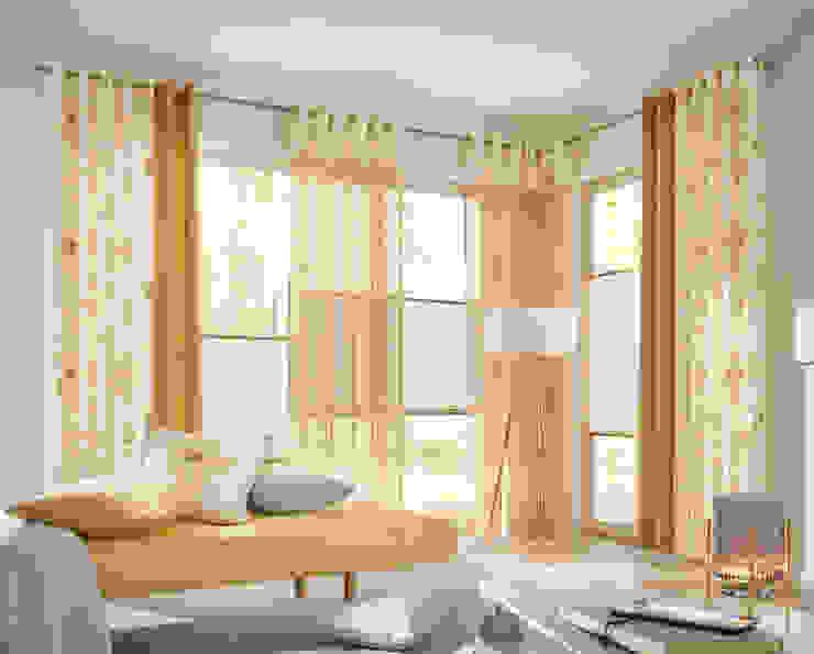 UNLAND International GmbH Puertas y ventanasCortinas Textil Amarillo