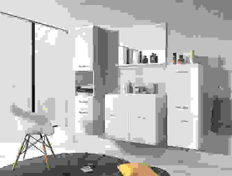 Meble łazienkowe Meble Minio ŁazienkaSzafki i półki łazienkowe Płyta wiórowa Biały