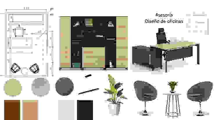 Oficinas, diseño interior de Shirley Palomino Moderno