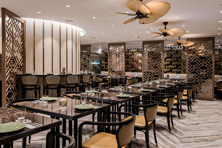 Apinara Thai Cuisine Asian style bars & clubs by RN Design Studio Asian