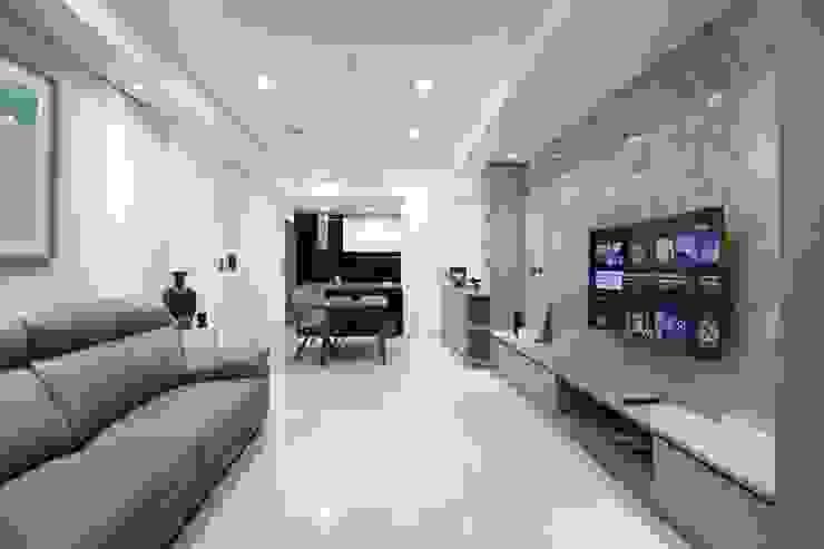 客廳 Modern Living Room by 張顥騰室內裝修設計有限公司 Modern