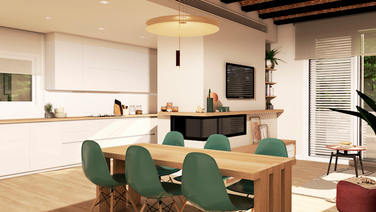 Scandinavian style dining room by crearteinteriors Scandinavian