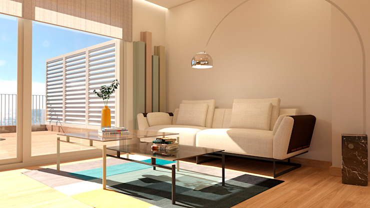 Modern Media Room by crearteinteriors Modern