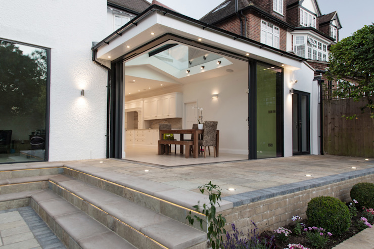 Single Story Extension RS Architects Modern dining room