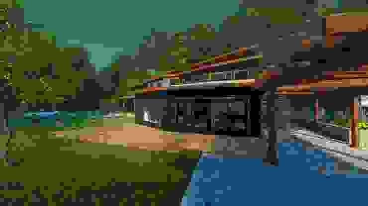 Terrazas. Balcones y terrazas rústicos de MS Arquitectos Rústico