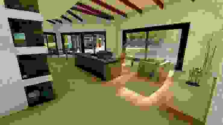 Estar y Comedor, interior. Livings de estilo moderno de MS Arquitectos Moderno