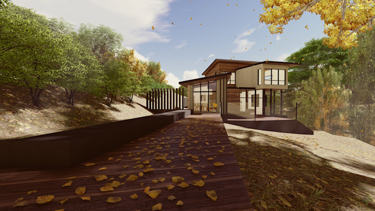 Terraza Jardín. de MS Arquitectos Moderno