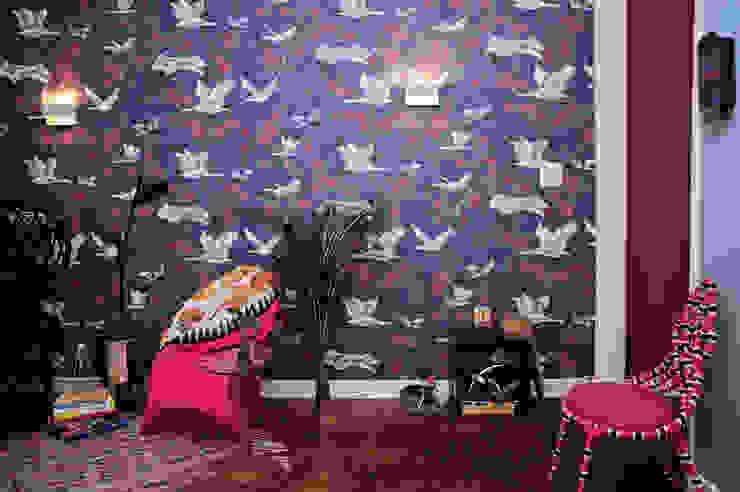 Enzo Sobocinski Arquitetura & Interiores Living room Wood Blue