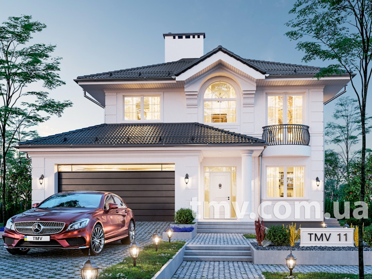 Проект стильного двухэтажного особняка TMV 11 от TMV Architecture company