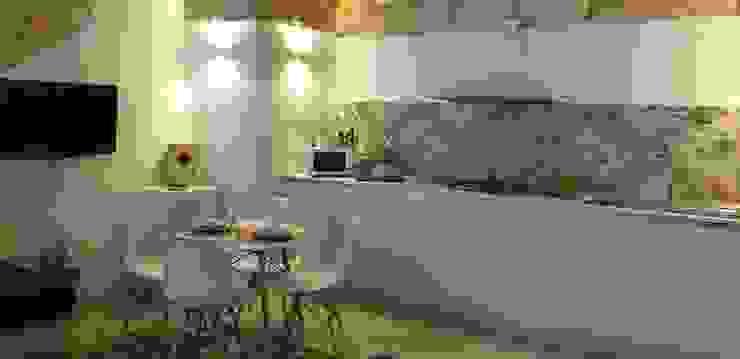cucina ROSA CARBONE DESIGN Cucina attrezzata MDF Bianco
