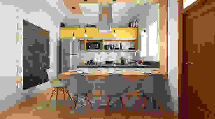 Cozinha Planejada Michelle Madeu Arquitetura e Interiores Cozinhas tropicais