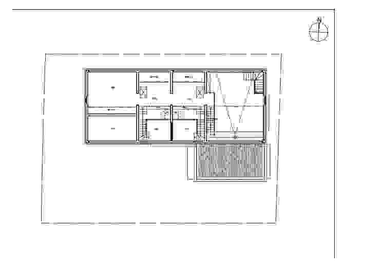 대가족을 위한 맞춤 시공/설계 세종목조주택: 위드하임의 현대 ,모던