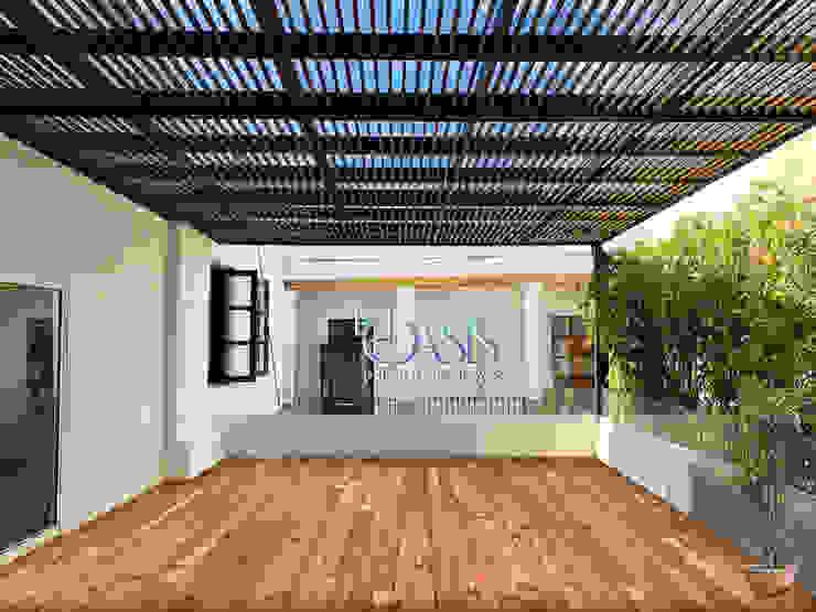 Oasis Pérgolas Modern balcony, veranda & terrace