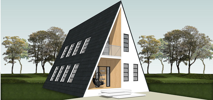 3D Render - Front View Modern houses by designasm Studio Modern