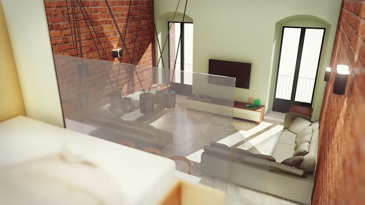 STUDIO ARCHITETTURA SPINONI ROBERTO Modern living room