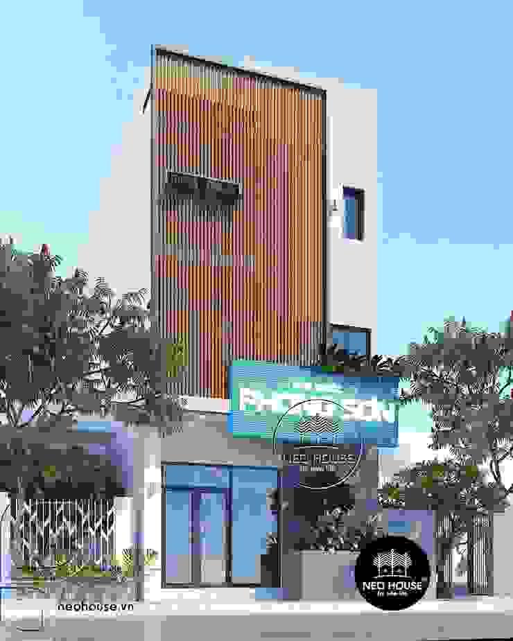 Thiết kế nhà phố hiện đại 3 tầng kết hợp kinh doanh phòng khám bởi NEOHouse