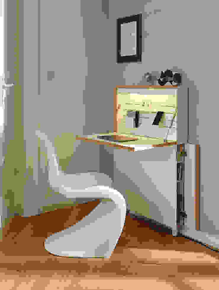studio michael hilgers ห้องอ่านหนังสือและห้องทำงานโต๊ะทำงาน
