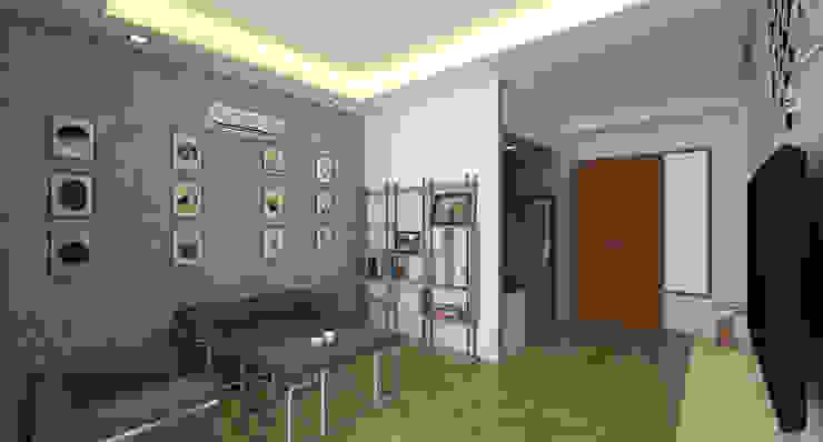 Desain Interior Ruang Keluarga Gaya Industrial Oleh Insign Architect Industrial