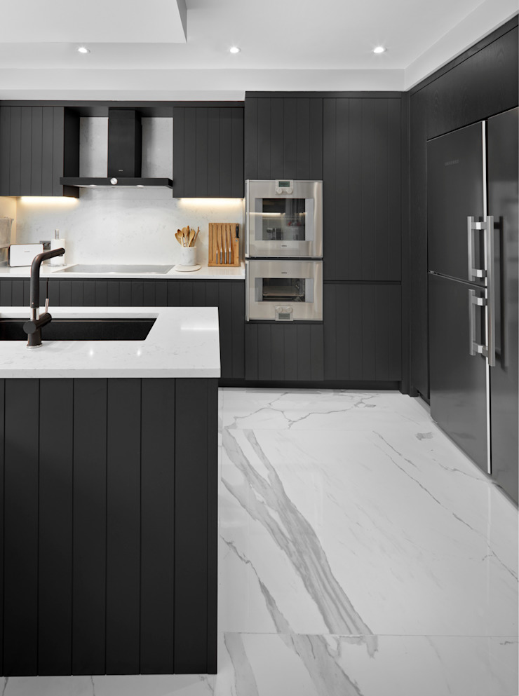 kitchen Esra Kazmirci Mimarlik Kitchen units Ceramic Black