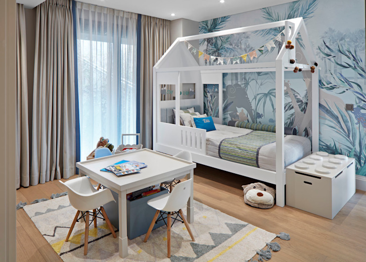 kids bedroom من Esra Kazmirci Mimarlik إسكندينافي خشب Wood effect