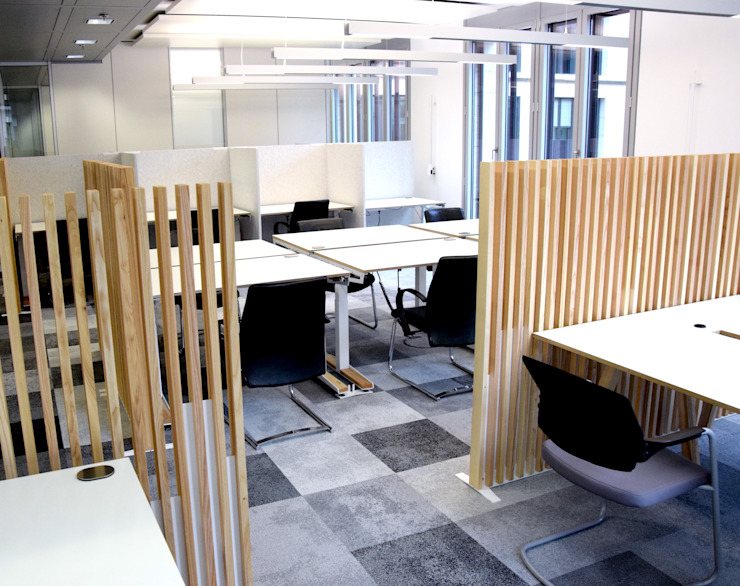 Pool22.Design EstudioEscritorios Metal Blanco