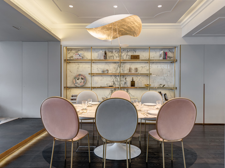 Happy Valley Modern dining room by Tommy Choi Design Modern Marble