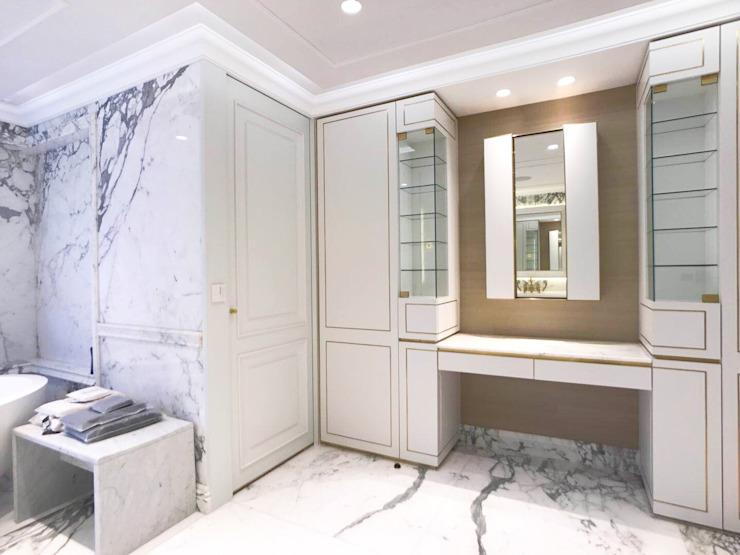 Happy Valley Modern dressing room by Tommy Choi Design Modern Marble