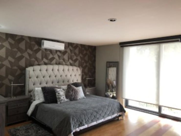 HM HOME SUPPLIES Modern style bedroom Grey