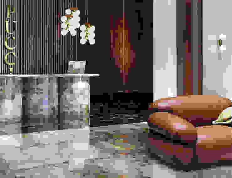 hotel pucci klassiek pallisander en marmer lobby Eclectische hotels van iconic design Eclectisch Marmer