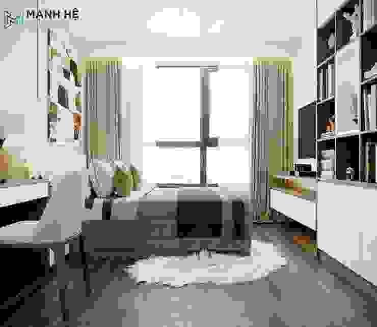 Phòng ngủ Master: hiện đại  by Công ty TNHH Nội Thất Mạnh Hệ, Hiện đại Giả da Metallic/Silver