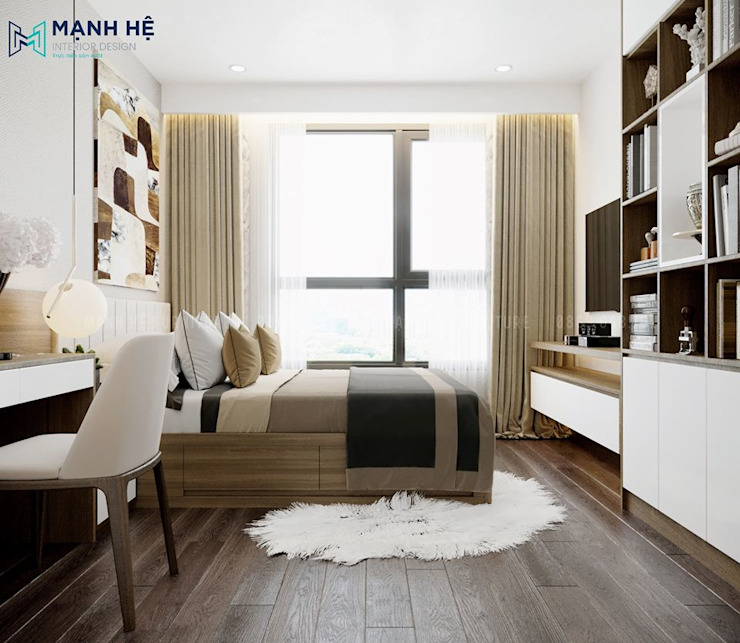 Phòng ngủ Master Công ty TNHH Nội Thất Mạnh Hệ Living roomAccessories & decoration Giả da Wood effect