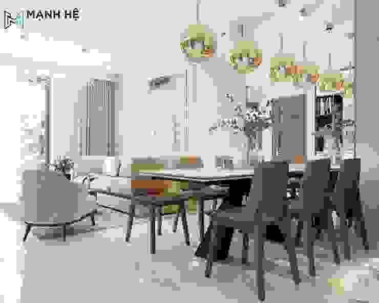 Bàn ăn 6 ghế da đẹp: hiện đại  by Công ty TNHH Nội Thất Mạnh Hệ, Hiện đại Bê tông cốt thép
