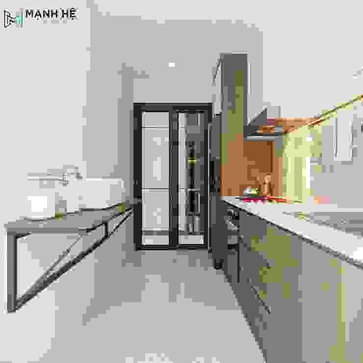 Phòng bếp hiện đại và tiện nghi Công ty TNHH Nội Thất Mạnh Hệ KitchenAccessories & textiles Đồ gốm White