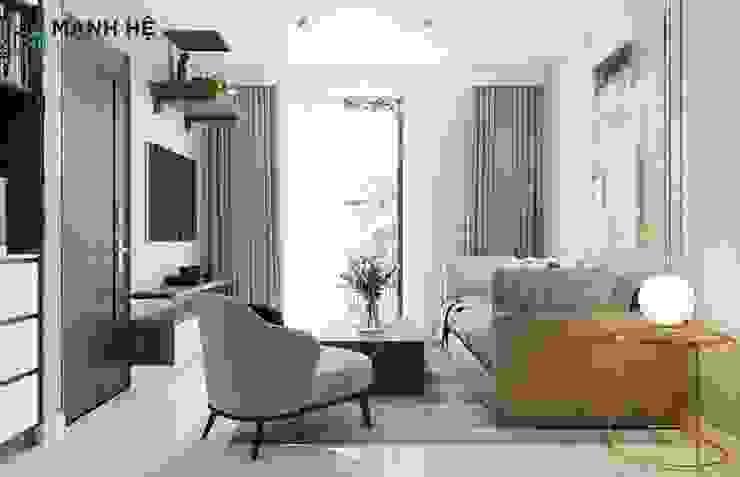 Phòng khách view đẹp: hiện đại  by Công ty TNHH Nội Thất Mạnh Hệ, Hiện đại Cao su