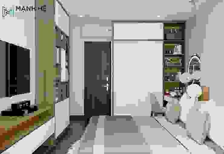 Tủ quần áo phòng ngủ cửa lùa: hiện đại  by Công ty TNHH Nội Thất Mạnh Hệ, Hiện đại Bông Red