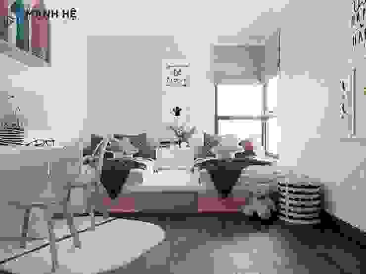 Phòng ngủ đôi cho bé Công ty TNHH Nội Thất Mạnh Hệ Balconies, verandas & terraces Furniture Cao su Beige