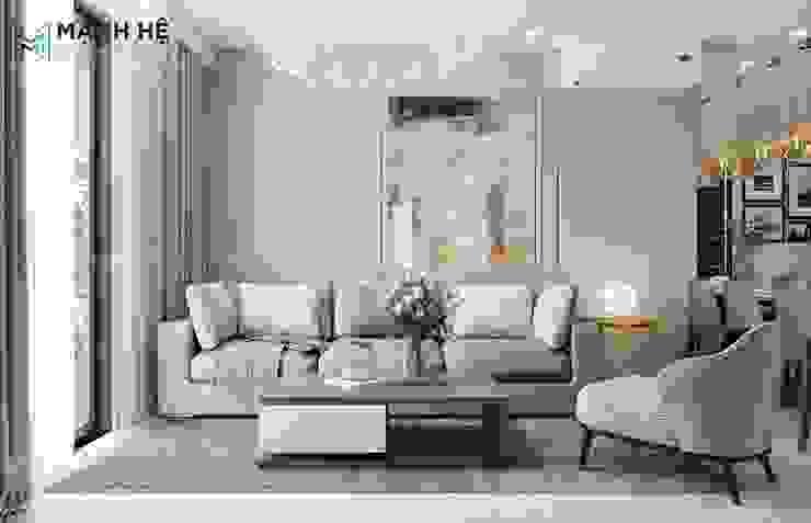 Sofa phòng khách đơn giản: hiện đại  by Công ty TNHH Nội Thất Mạnh Hệ, Hiện đại