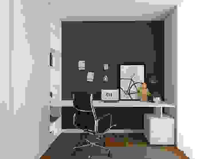 Closet com escritório Escritórios modernos por 411 - Design e Arquitectura de Interiores Moderno