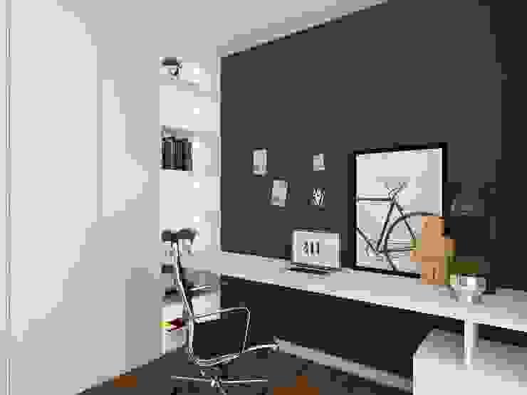 Closet com escritório 411 - Design e Arquitectura de Interiores Escritórios modernos