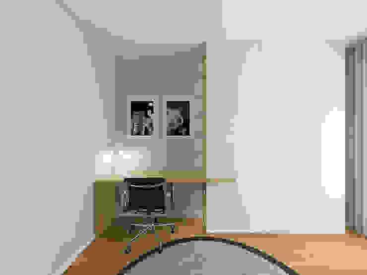 Escritório com cama para hospedes 411 - Design e Arquitectura de Interiores Escritórios modernos