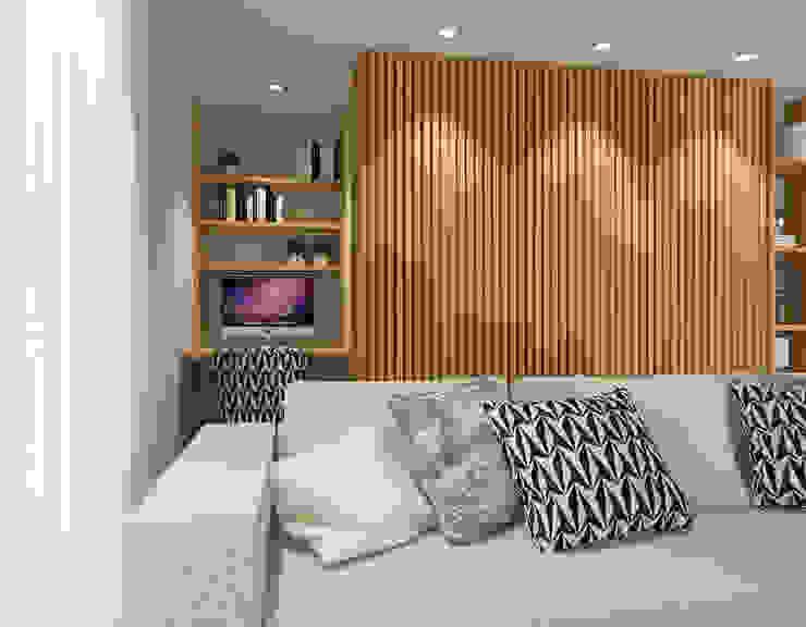 Home office na sala 411 - Design e Arquitectura de Interiores Escritórios modernos