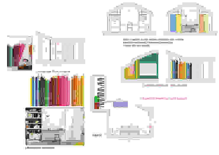CLARE studio di architettura Kamar tidur anak laki-laki