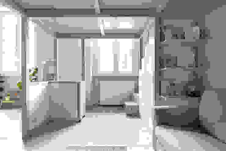 soppalco Loft Soggiorno in stile scandinavo di Lascia la Scia S.n.c. Scandinavo Legno Effetto legno