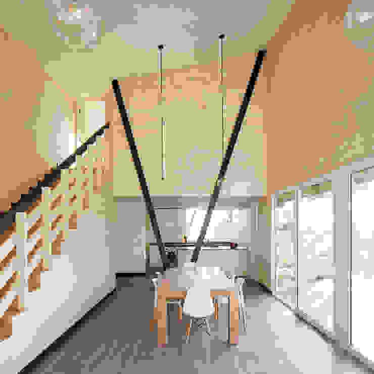 Casa Dos Pieles Verónica Arcos Arquitectos Casas de madera Madera Acabado en madera