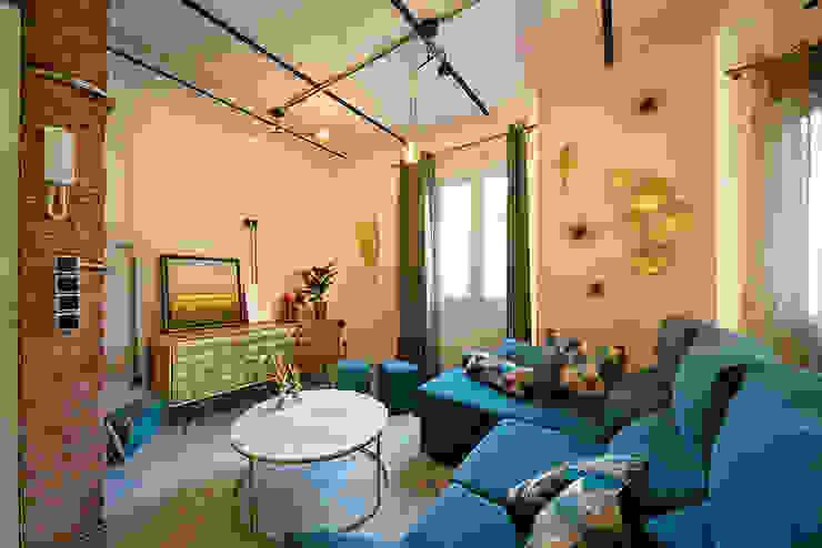 OOIIO Arquitectura Salon original Marbre Multicolore